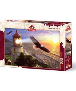 art puzzle 1000 parça gündoğumunda yüksek uçuş 68x48cm img