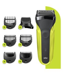 braun 3 serisi 300 bt 3'ü 1 arada kuru kullanım kablosuz tıraş  makinesi img