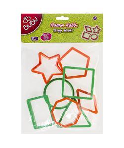 bu-bu hamur kalıbı geometrik şekiller 8 parça img