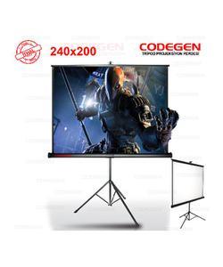 codegen tx-24 240x200cm tripod ayaklı projeksiyon perdesi img
