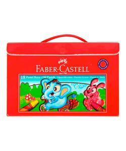 faber castell çantalı pastel boya 18 renk (5281125119) img