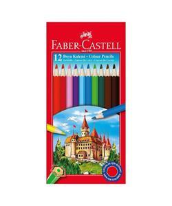 faber castell karton kutu boya kalemi 12 renk tam boy img