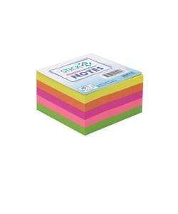gıpta stickn 76x76 yapışkanlı not kağıdı neon 5 renk küp 400 yaprak img