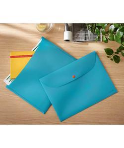 leitz cosy çıtçıtlı 2 cepli gizlilik dosyası a4 mavi img