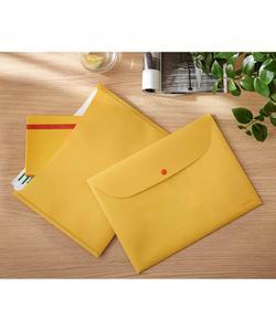 leitz cosy çıtçıtlı 2 cepli gizlilik dosyası a4 sarı img