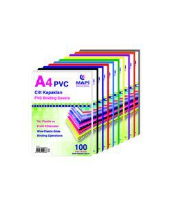 mapi a4 pvc beyaz opak cilt kapağı 160 mic. 100'lü paket img