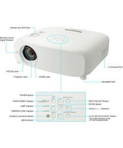 panasonic pt-vx605n 5500 lümen 1024x768 xga lcd kablosuz  projeksiyon cihazı img