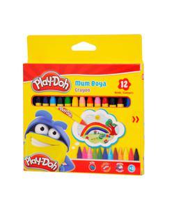 play-doh karton kutu silinebilir crayon (mum) boya 12 renk play-cr004 img