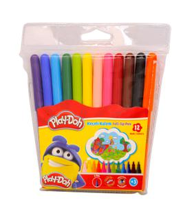 play-doh keçeli kalem 12 renk 2mm img