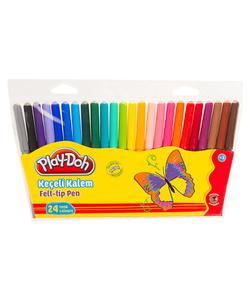 play-doh keçeli kalem 24 renk 2mm. play-ke006 img