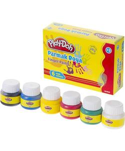 play-doh parmak boyası 6 renk 30 ml. play-pr001 img