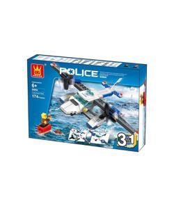 wange polis sahil güvenlik uçağı 3 in 1 174 parça img